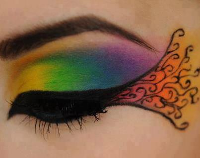 Cute Bird Eye Makeup