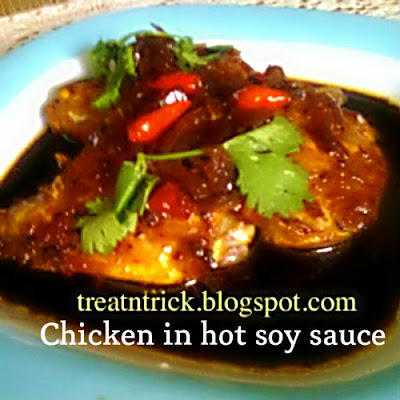 Chicken In Hot Soy Sauce Recipe @ http://treatntrick.blogspot.com