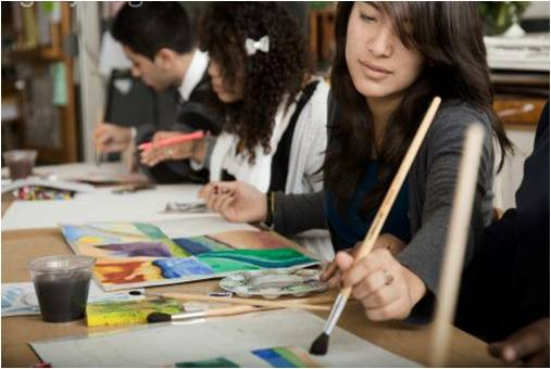 Teens are invited to take part in a guided art project; enjoy music, ...