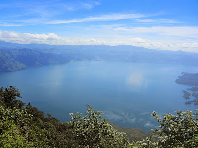 View of Lake Atitlan from Volcan San Pedro in Guatemala