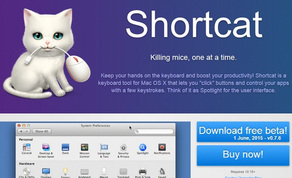 Shortcat productivity software
