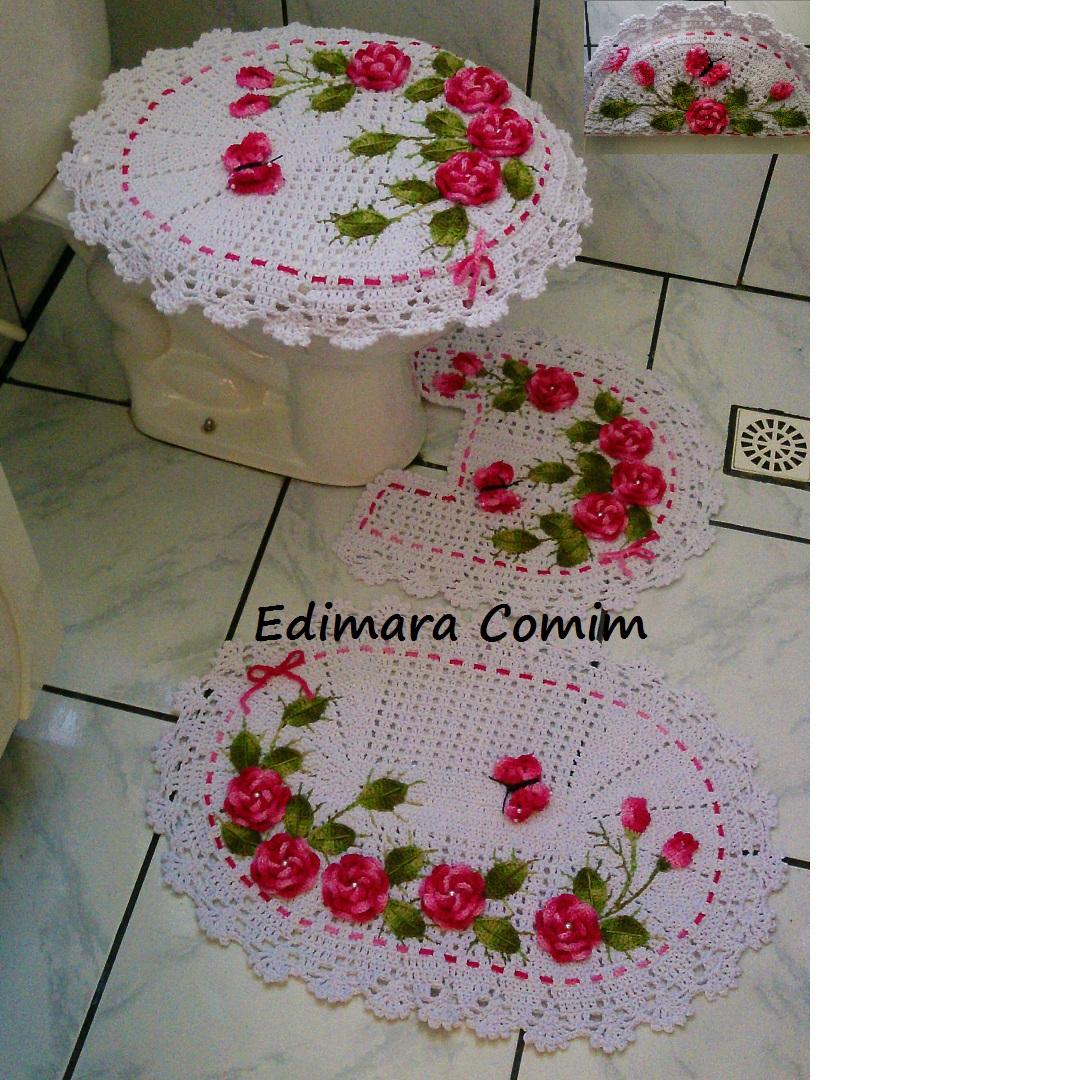 #811D2B Edimara Comim : Jogo de banheiro jardim de rosas com flores rosas 1080x1080 px jardim para banheiro