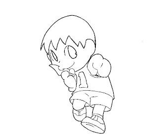 #6 Villager Coloring Page
