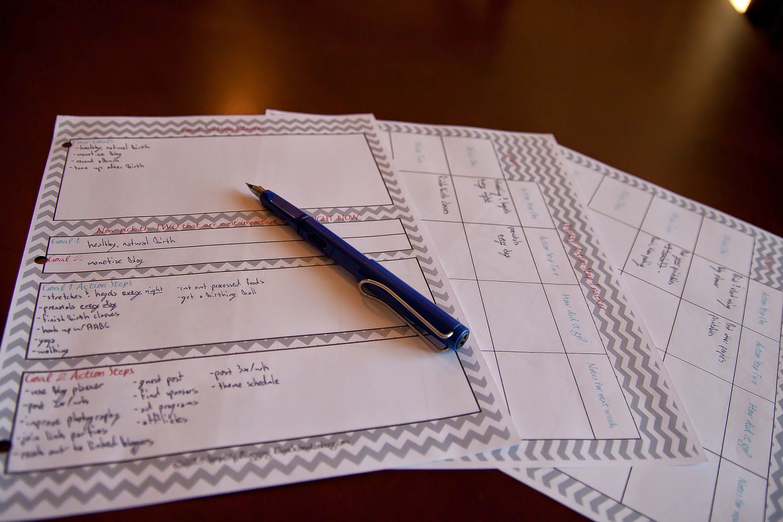 Goal Setting Planner free printable