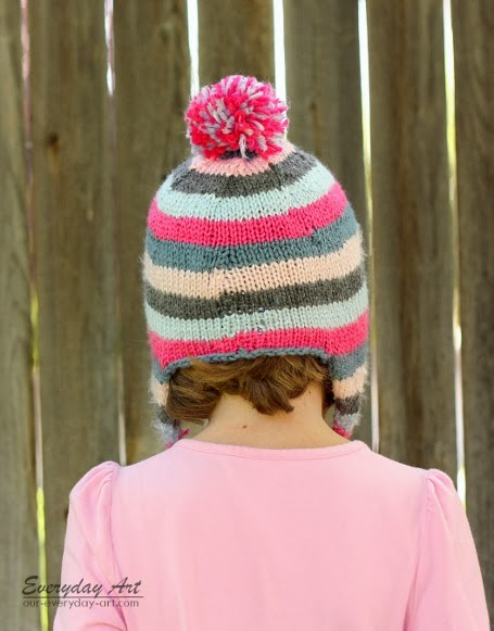 Everyday Art: Children\'s Knit Ear Flap Hat Pattern