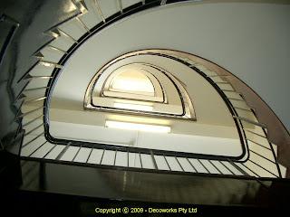 Century Hotel Art Deco staircase