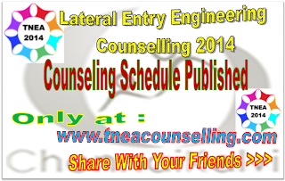 tamilnadu-engineering-lateral-entry-admission-2014-counseling schedule