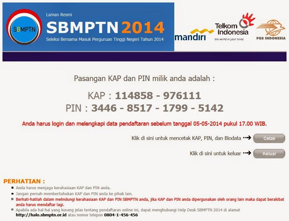 Batas Waktu Pendaftaran SBMPTN 2014