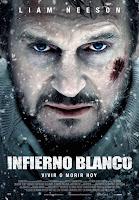 Cartel de Infierno blanco, con Liam Neeson