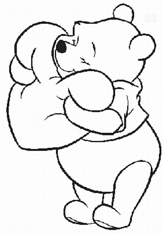 Free Disney Winnie The Pooh Babby Coloring Pages title=