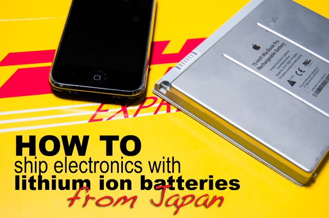 electronics, laptop, cell phone, ship, lithium ion battery, Japan
