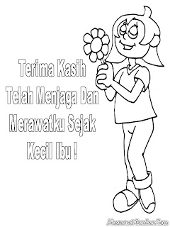 Mewarnai Gambar Hari Ibu Indonesia