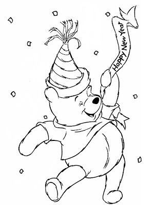 winnie the pooh cartoon bear coloring pages - Pooh Bear Coloring Pages