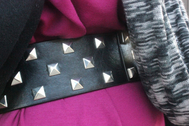 Studded Black Belt