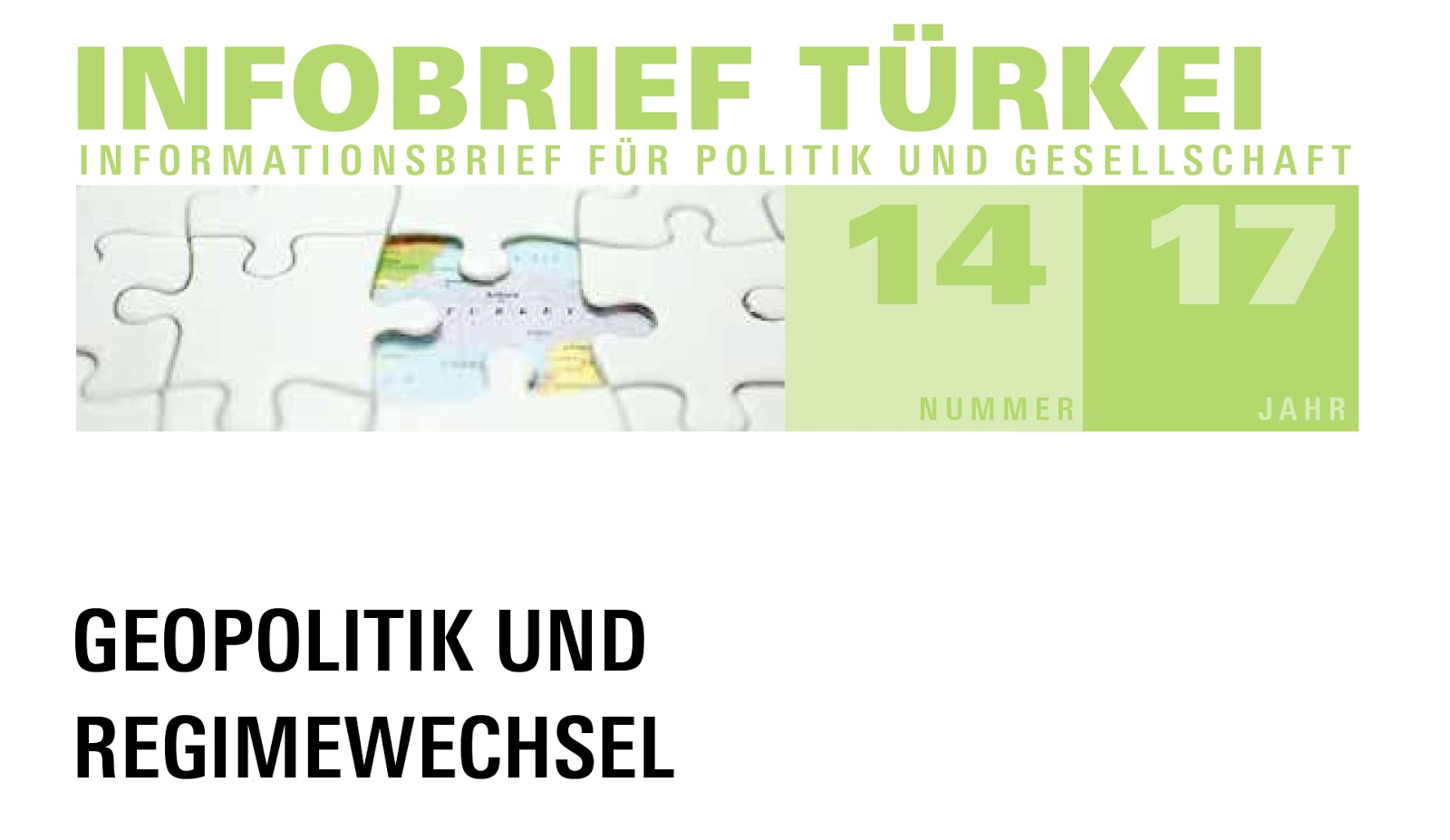 Infobrief Türkei 14/2017