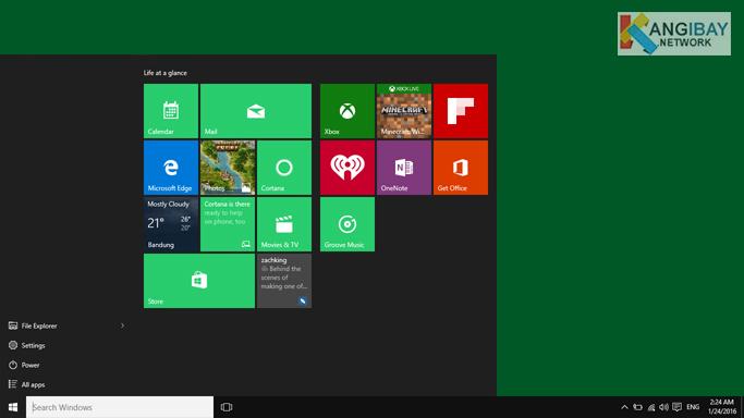 Beberapa settingan yang bisa dilakukan pada menu Start Windows 10