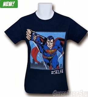 Click here to purchase your Superman Taking A Selfie t-shirt at SuperHeroStuff!