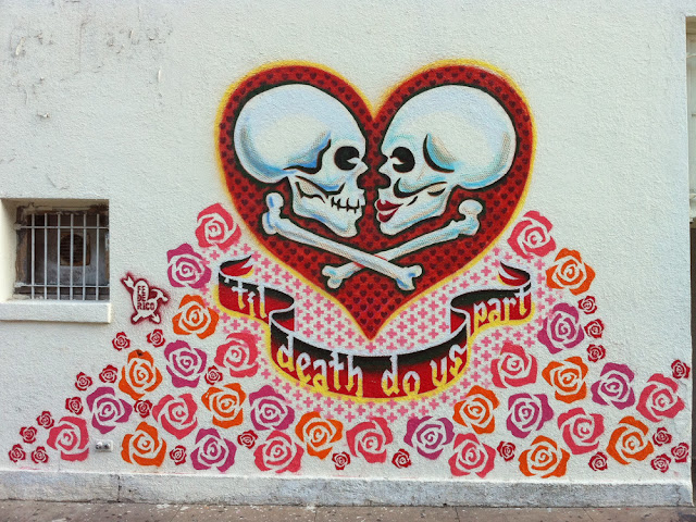 Federico Archuleta: Til Death do Us Part - mural on Mexi-Arte Museum