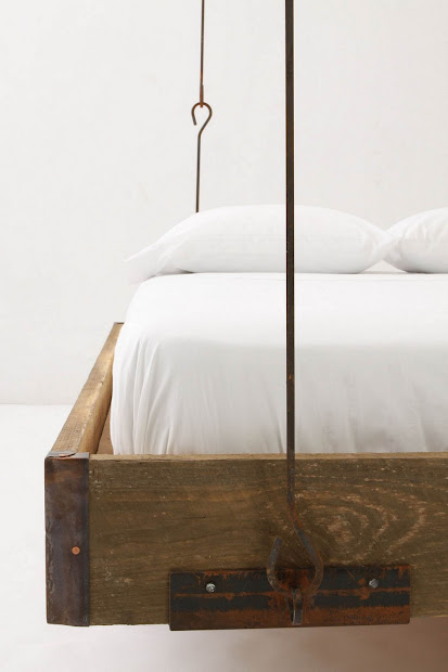 Anthropologie Barnwood Hanging Bed