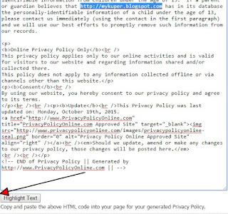Cara mudah membuat privacy policy diblogger