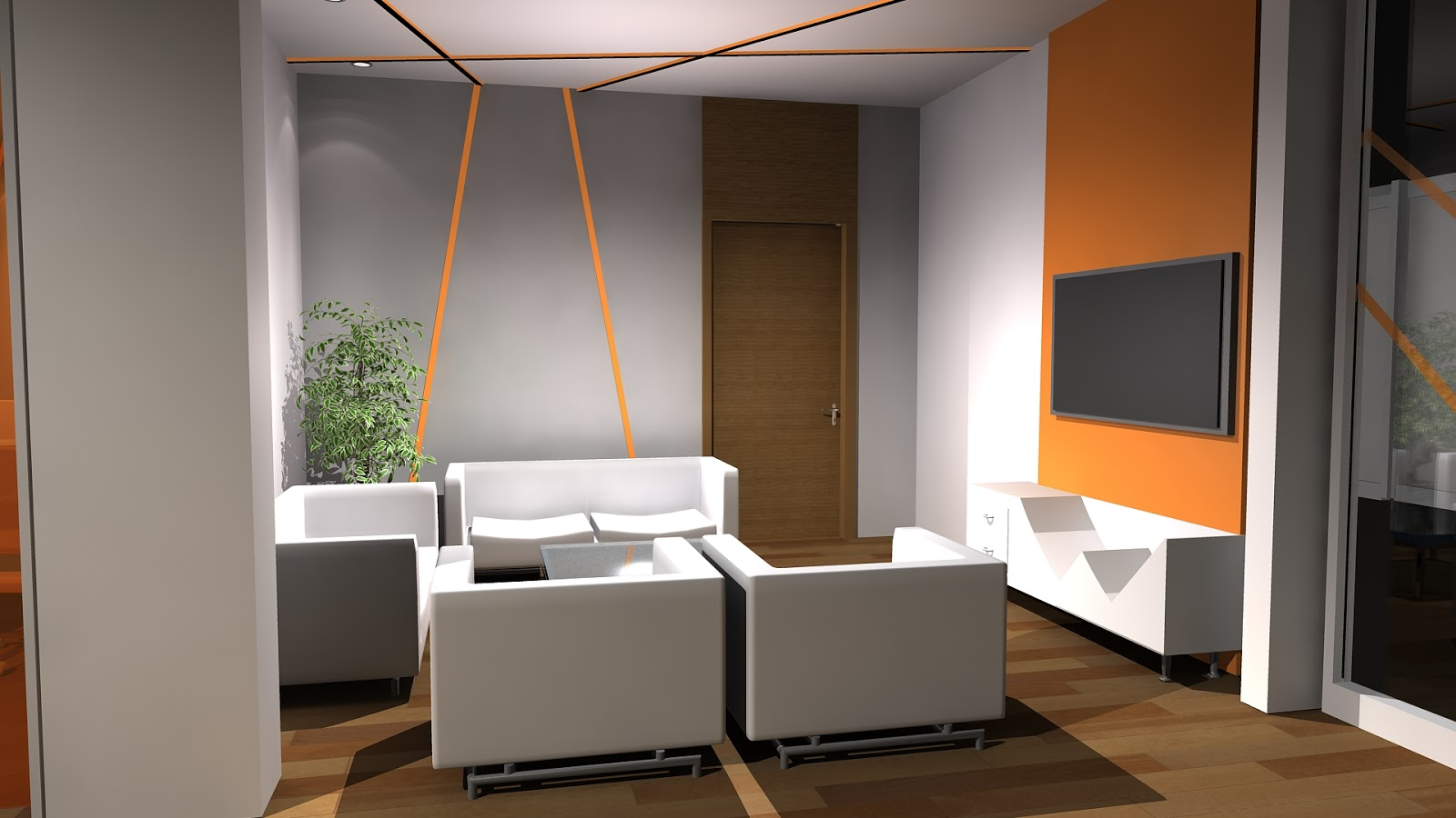 Sajid designer interior design office 3ds max for Room design 3ds max