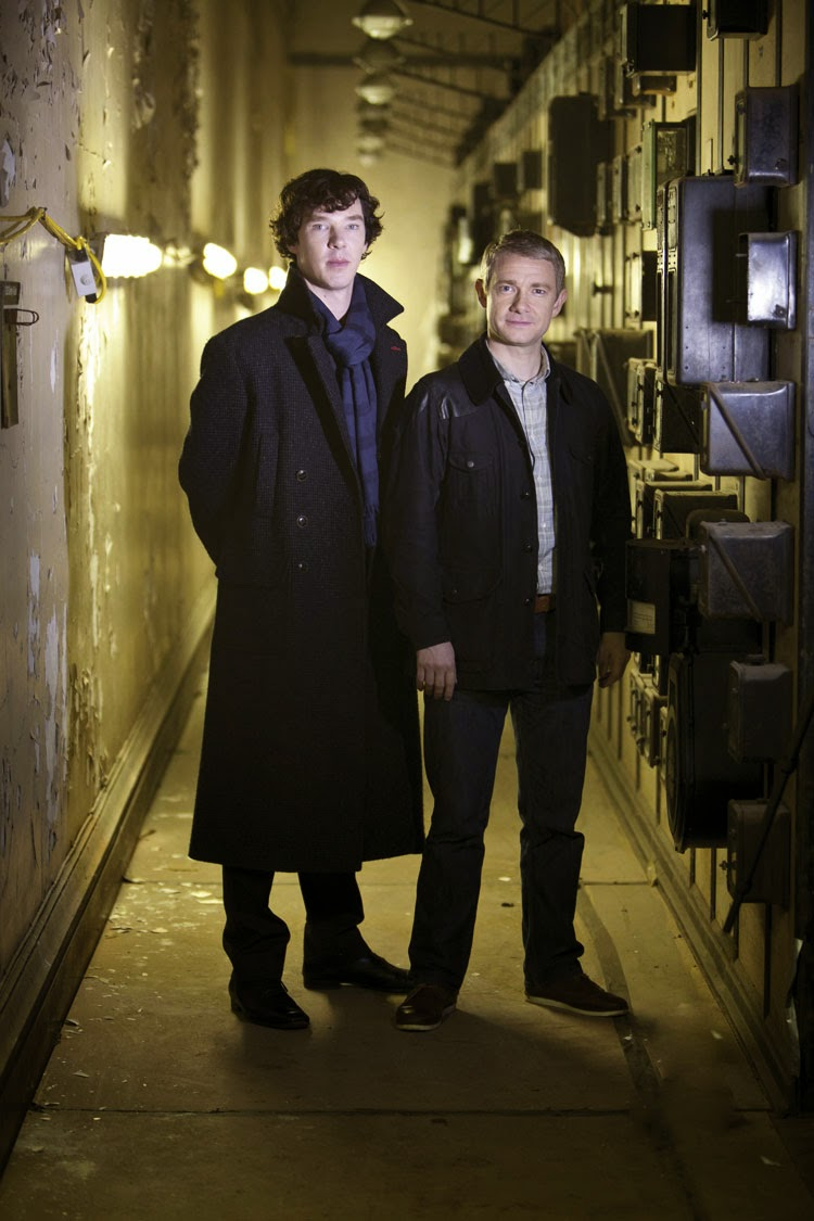 Benedict Cumberbatch and Martin Freeman as Sherlock Holmes and John Watson in BBC Sherlock Season 2 A Scandal in Belgravia