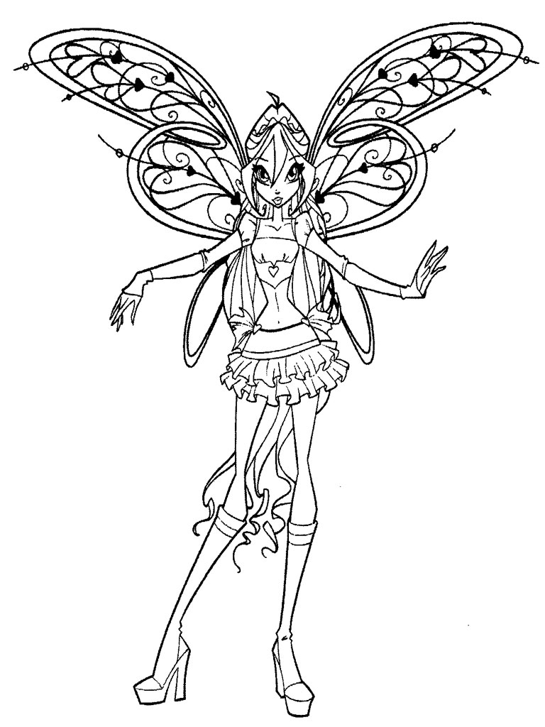 Musa Mermaid Coloring Pages Winx Club Musa Coloring Pages