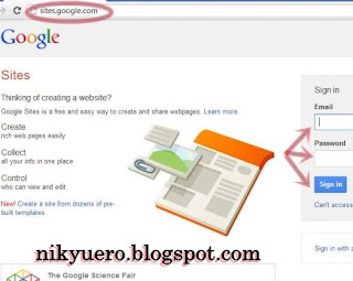 Halaman awal google sites