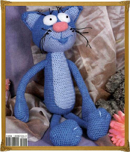 Схема вязания кота в стиле