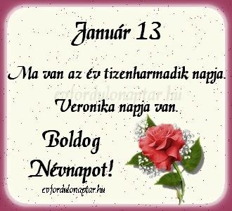 Január 13, Veronika névnap