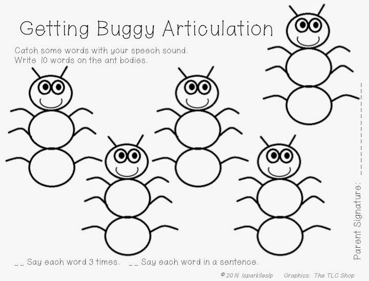 Printables Articulation Worksheets may 2014 sparklle slp getting buggy open ended articulation worksheet freebie