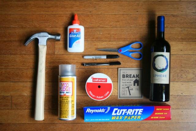 """""""Get Hammered"""" Housewarming Gift // Supplies"""