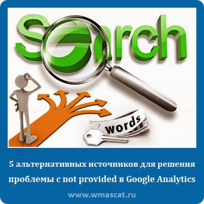 5 альтернативных источников для решения проблемы с not provided в Google Analytics