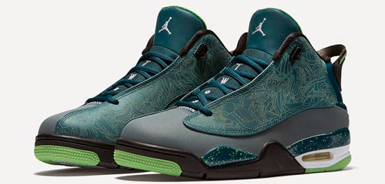 separation shoes 87e1a 3c61a This Jordan Dub Zero comes in a teal, light green spark, blue graphite and  black colorway. Featuring a teal based upper with graphite, green, ...