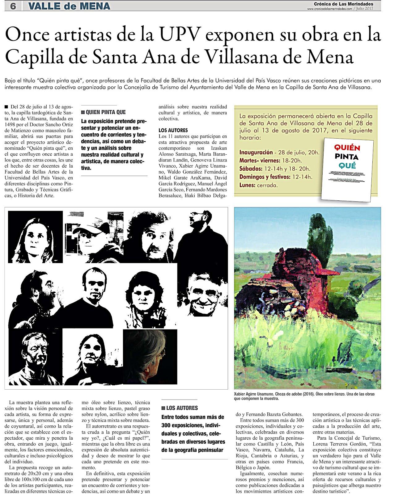 EXPO VILLASANA DE MENA. !! Artistas de UPV
