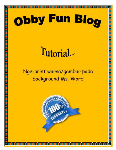 Itu Tadi Langkah Nge Print Warna Gambar Pada Background Ms Word Simple Dan Mudahkan Jika Ada Pertanyaan Langsung Aja Ke Komentar