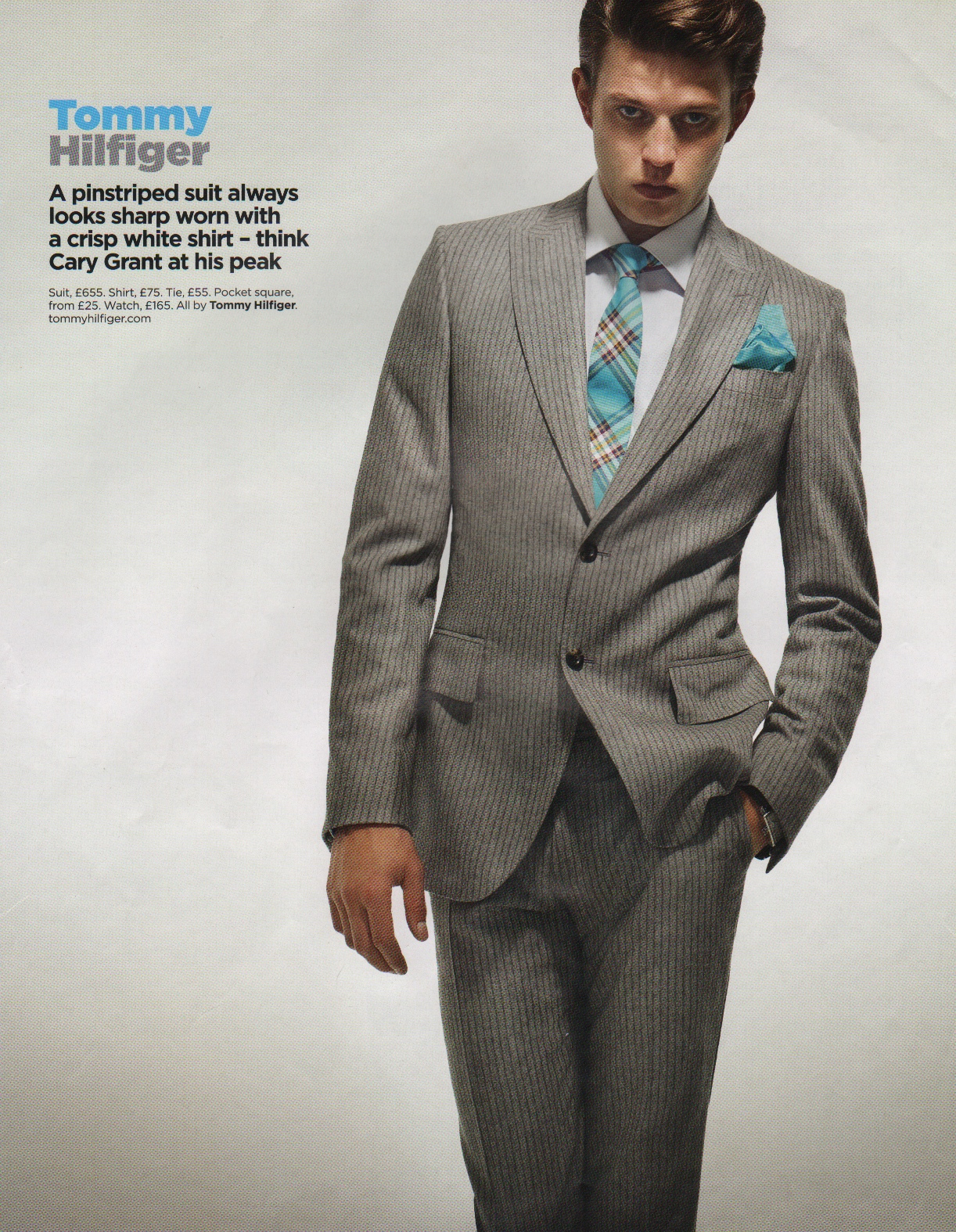 The gray suit with the kind of