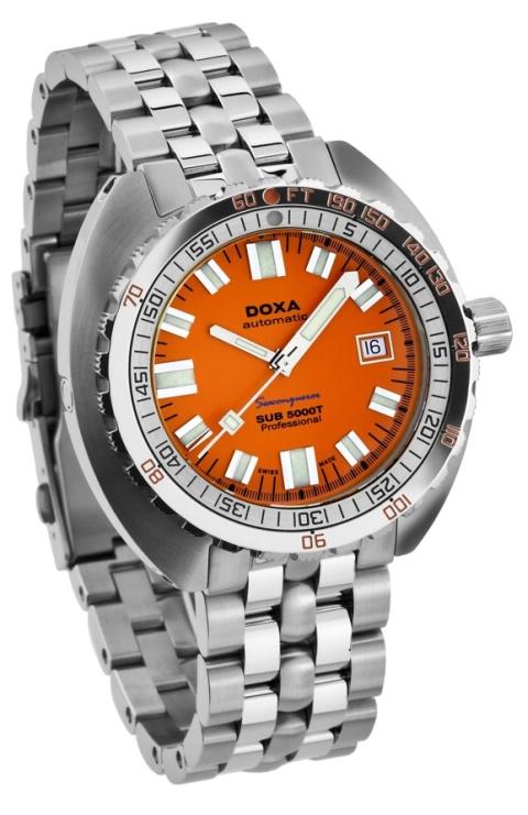 The swiss monster big bold bright doxa orange divers - Orange dive watch ...