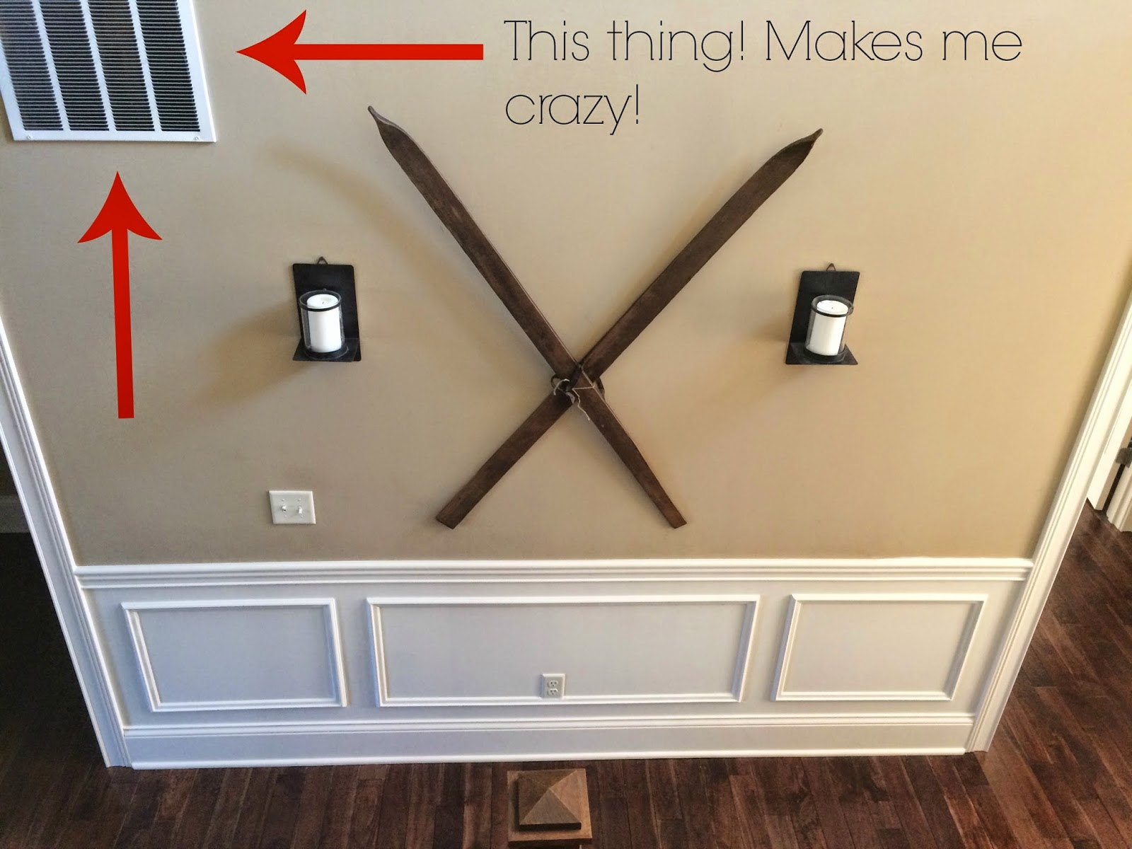 Removing A Chair Rail Part - 15: No, I Canu0027t Remove It And Board It Up With Drywall, Because HVAC-blah Blah,  So He Says. But When We Decide On A New Wall Color, The Vent Will Be  Painted To ...