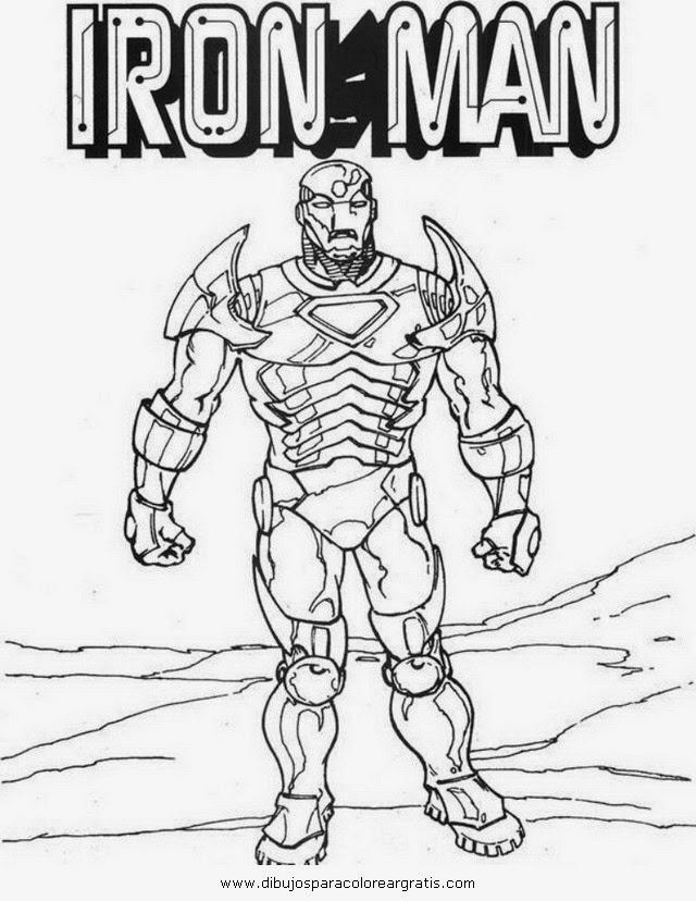Para colorear - Iron Man