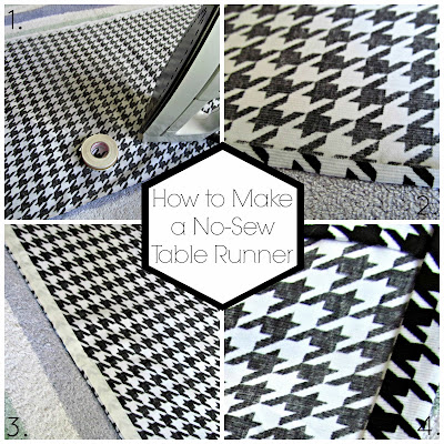 How to Make a No-Sew Table Runner from It's Always Ruetten