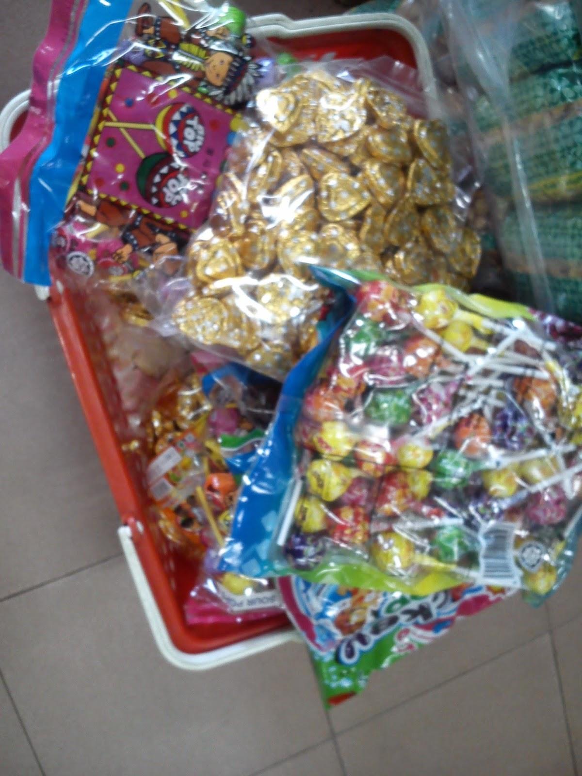 azreen zunairah bershopping dan memborong candy