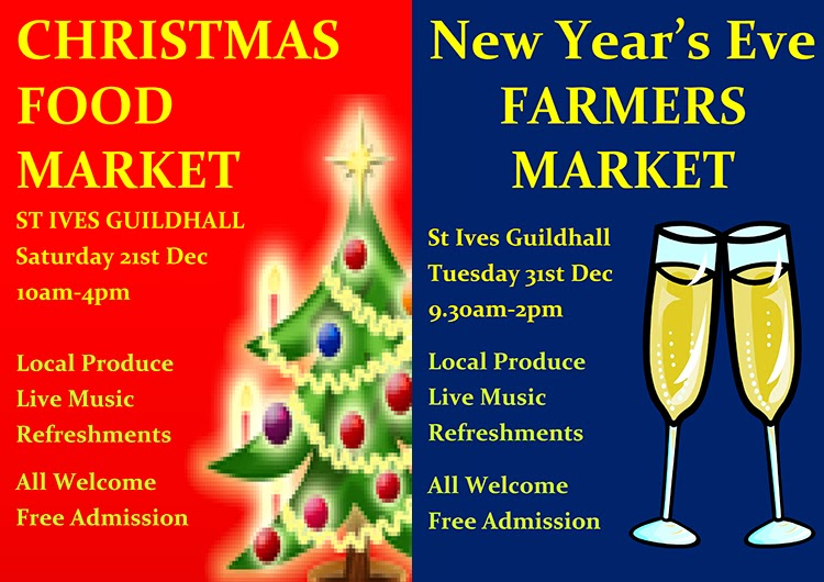 Christmas and New Years Eve Markets - St Ives Cornwall