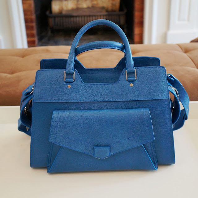 Front view of my blue PS13 bag