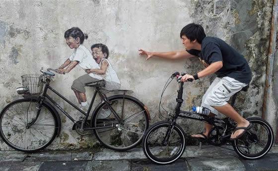 Pinturas interativas na Malásia