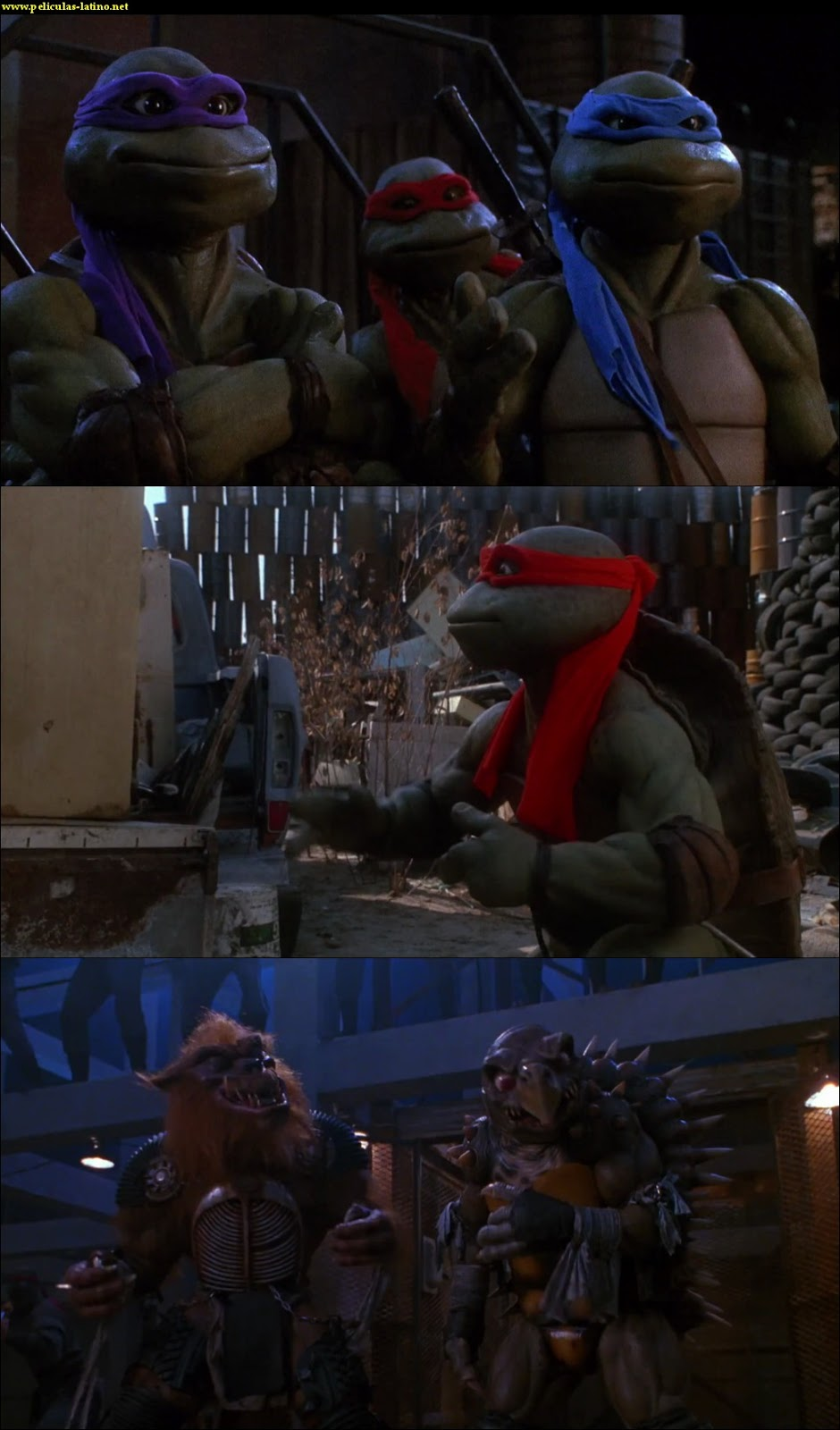 Captura Las tortugas ninja II: El secreto de los mocos verdes HD 1080p Dual 1991
