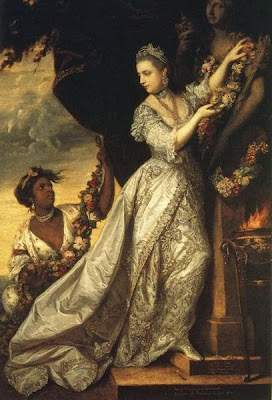 Lady Elizabeth Keppel adorning a Herm of Hymen by Sir Joshua Reynolds, 1761