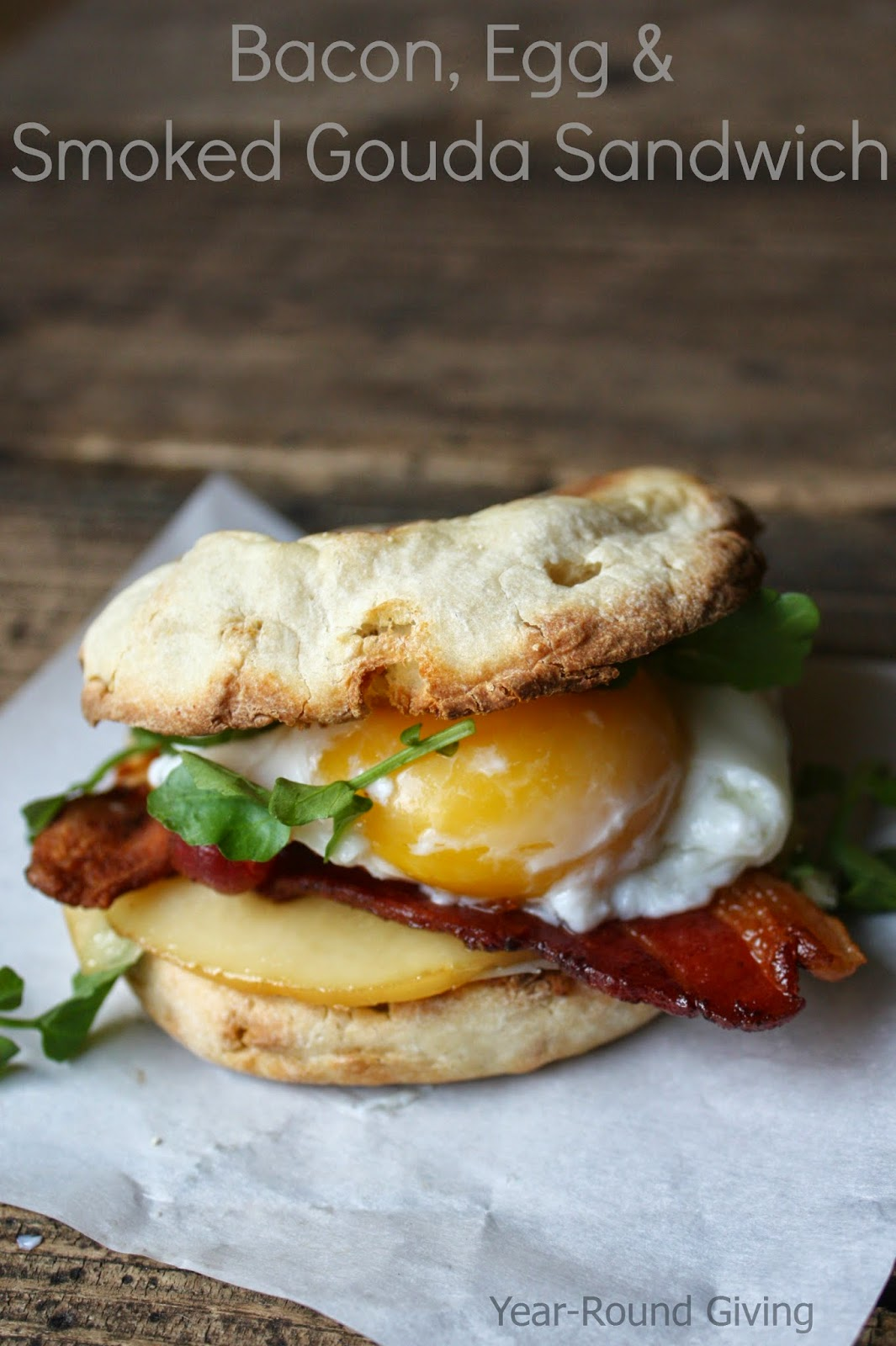 Bacon, Egg & Smoked Gouda Breakfast Sandwich