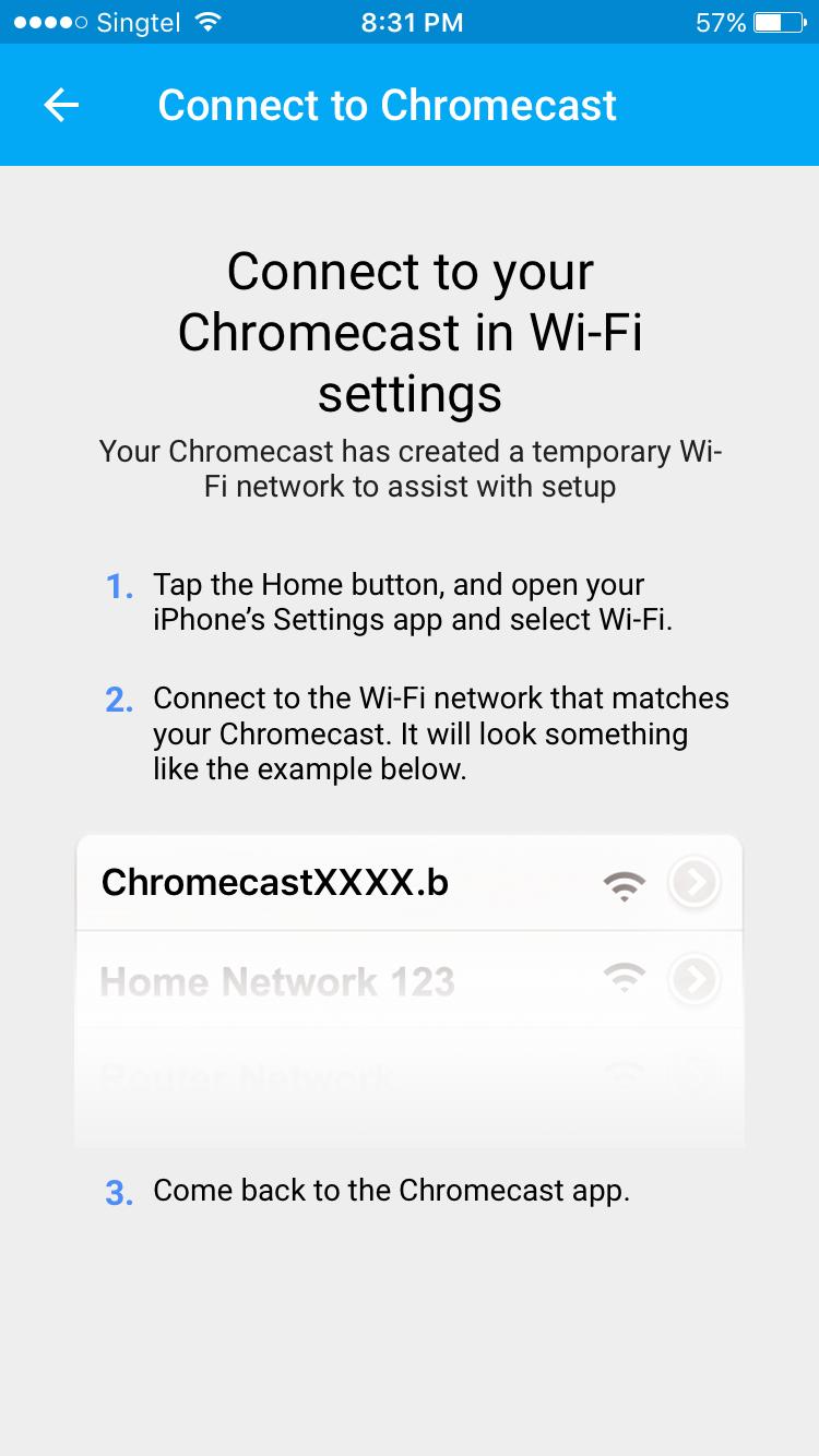 My Network Lab Google Chromecast Setup