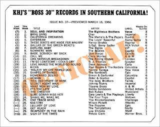 KHJ Boss 30 No. 37 - March 16, 1966